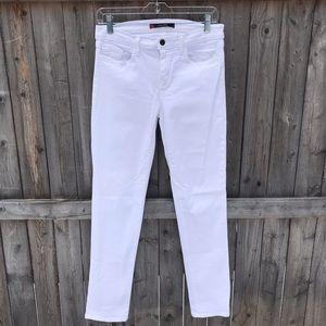 J Brand Jude White Skinny Jeans.